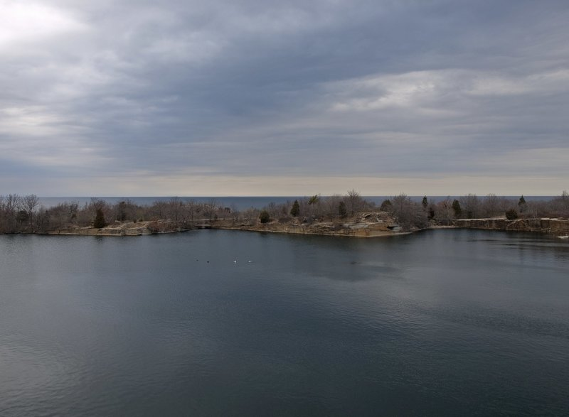 Panorama of the quarry, Halibut Point State Park