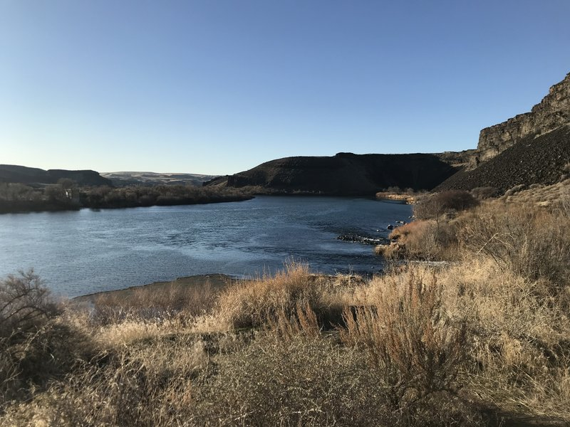 The confluence of Box Springs with the mighty Snake River.