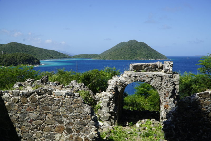 The ruins at the opposite end of the trail from Annaberg Plantation. Once here you can continue your hike via Johnny Horn Trail over to Coral Bay.
