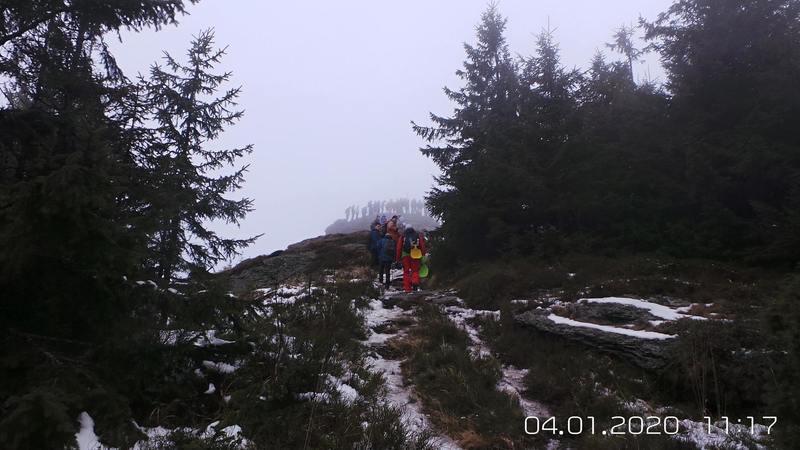 Cestou k vrcholovému bralu Volovec-Skalisko