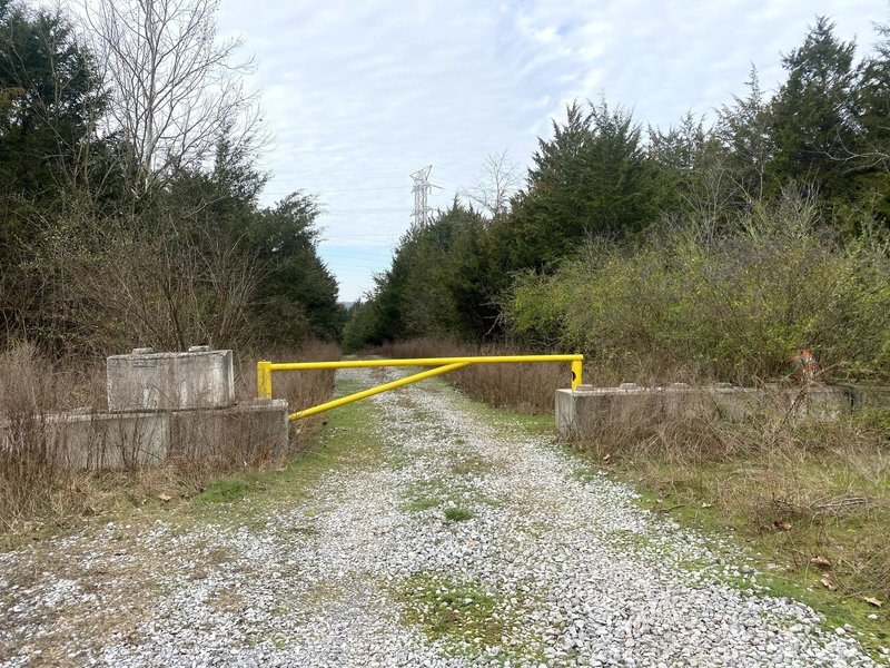 Canal Branch trailhead parking area. Head down the service road and under the power lines.