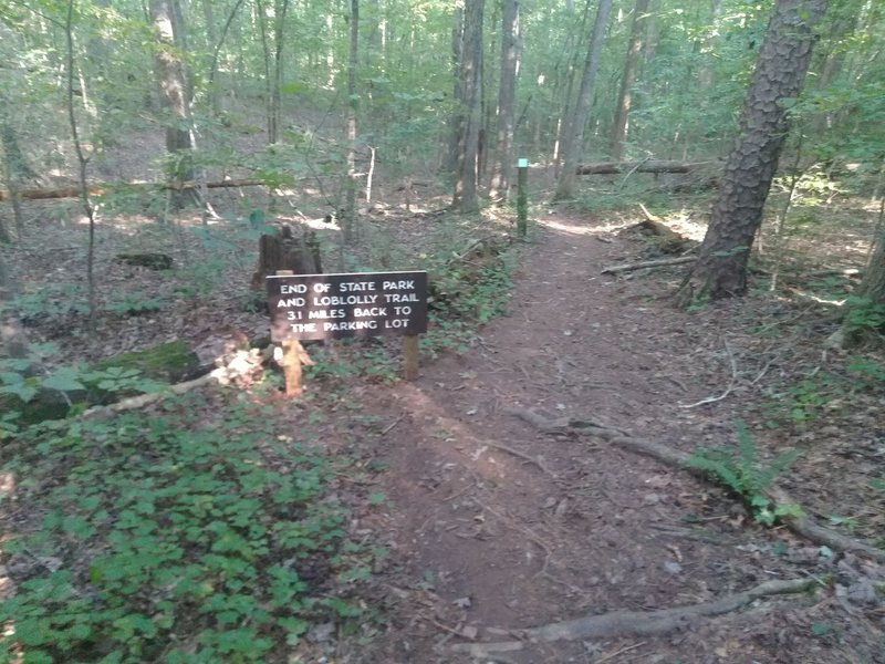 End and beginning of trails.