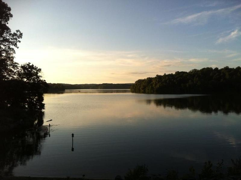 Sunset view from the dam