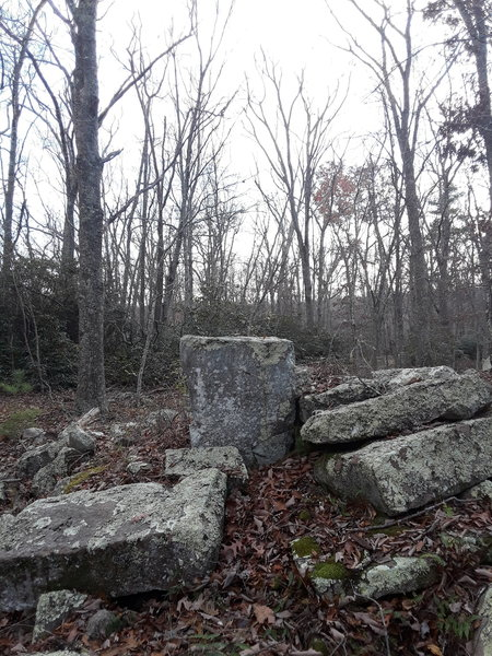 I call these witch's alters. They are carved rock that was once part of a structure, but eerily they stand like tables.