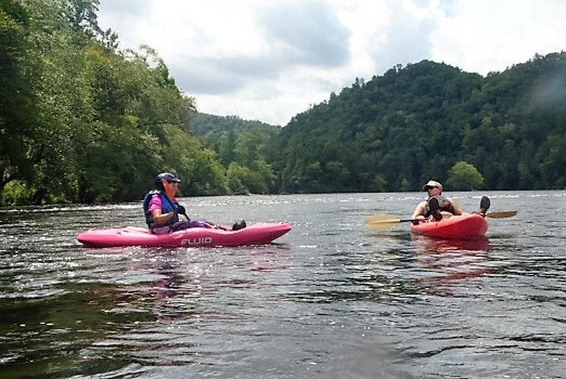 Kayaking on the Hiwassee River