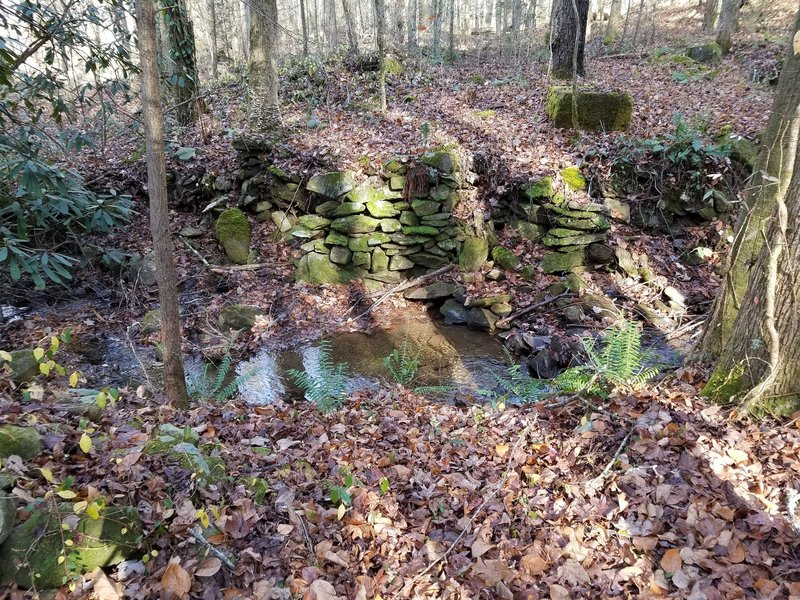 Stone Walls at the old CCC camp along the Unicoi Turnpike Trail