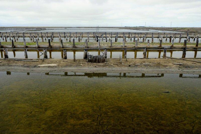 Historic saltworks at Eden Landing