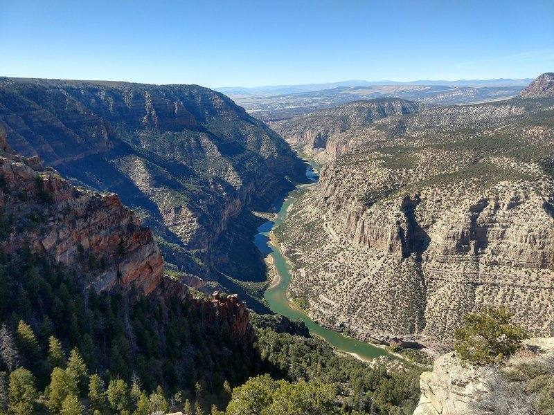 Beautiful canyon views to the left.