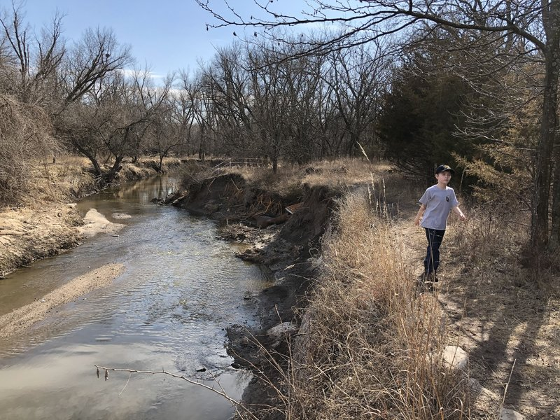 This is another landmark section of the trail that has eroded extremely bad in the past year from flooding.
