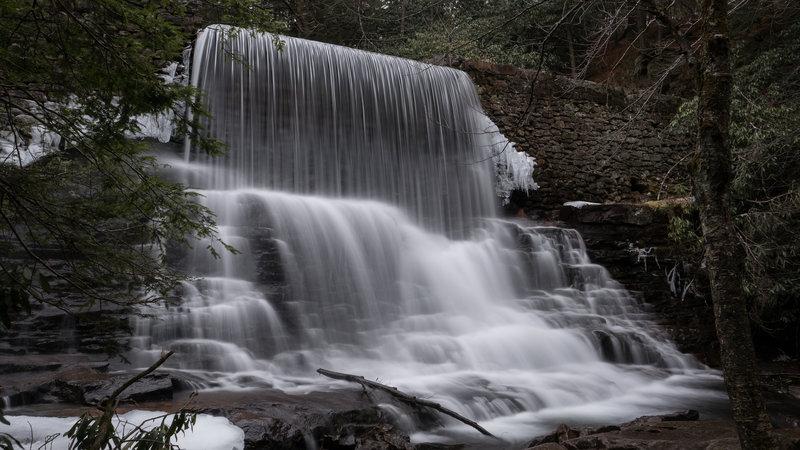 The 15-foot tall waterfall over Stametz Dam - Hickory Run, PA.