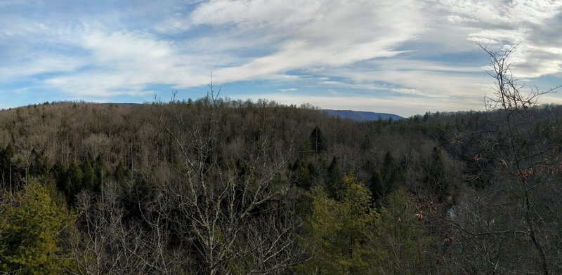 View from the observation area at the trailhead.