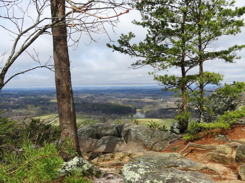The Indian Seats atop Sawnee Mountain