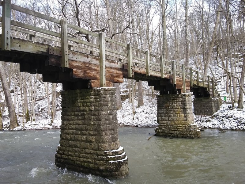 Bridge at John Bryan State Park.
