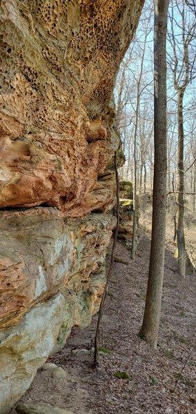 Exposed rock ledge