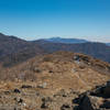 The tall peak in the distant center is your goal, the high point of the South Korean peninsula, Cheonwangbong.