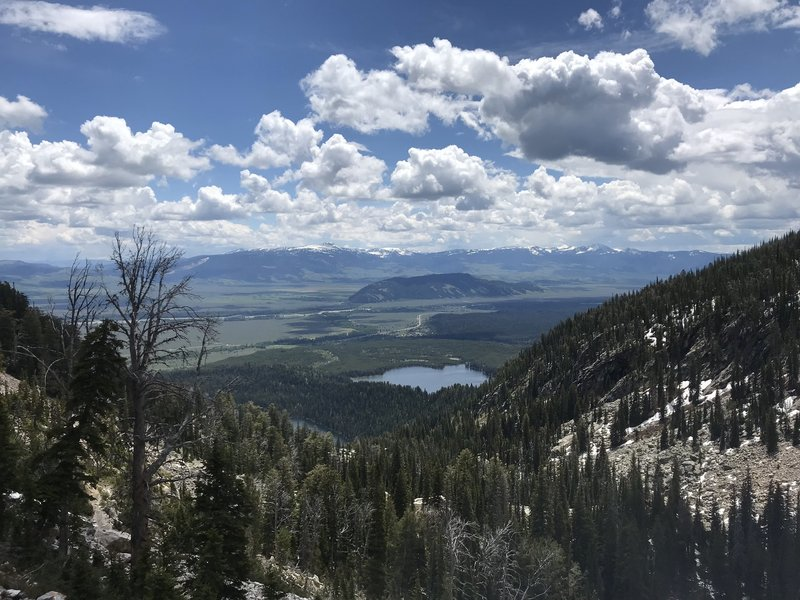 Stunning view of the valley from the top of the trail.