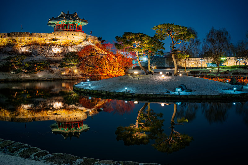 The Hwaseong Fortress Pond