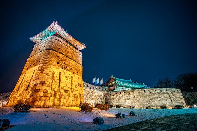 Guard towers at Hwaseong Fortress