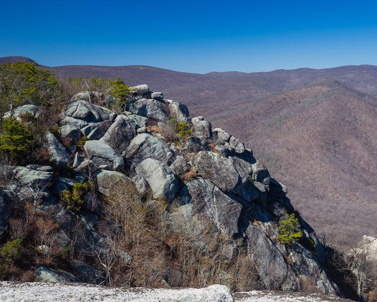 Rocks at the peak