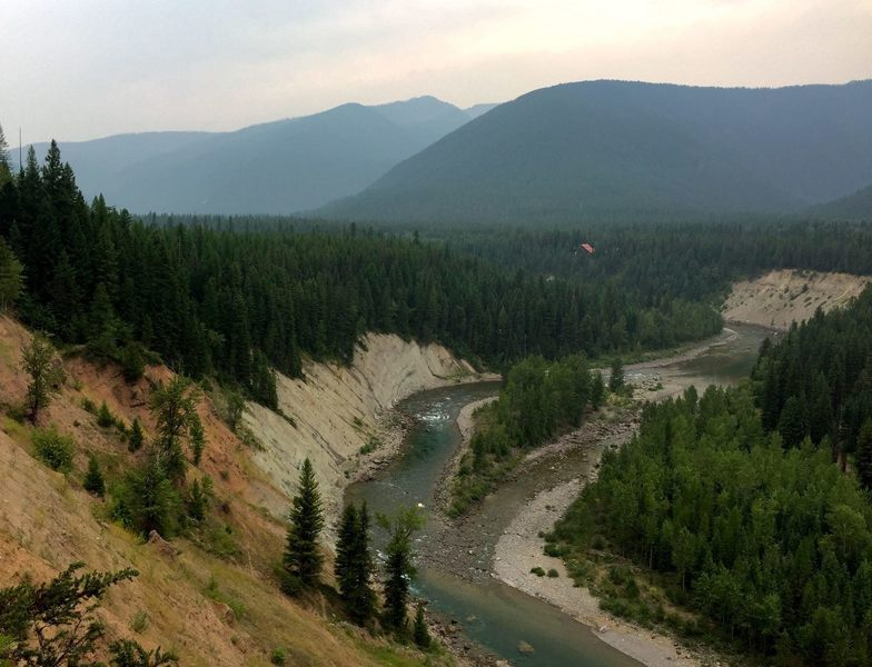 The Flathead River at the edge of Glacier National Park.