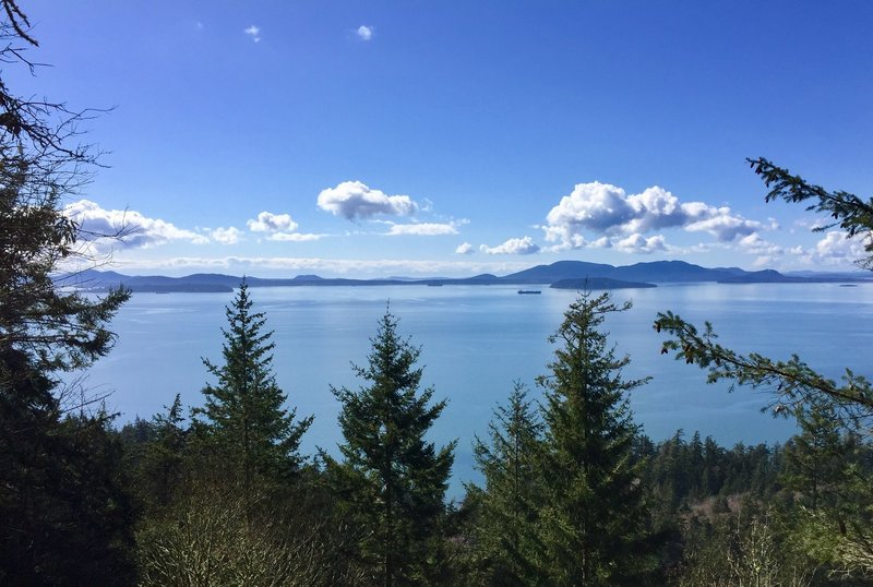Views of the Puget Sound from the Fragrance Lake Trail.