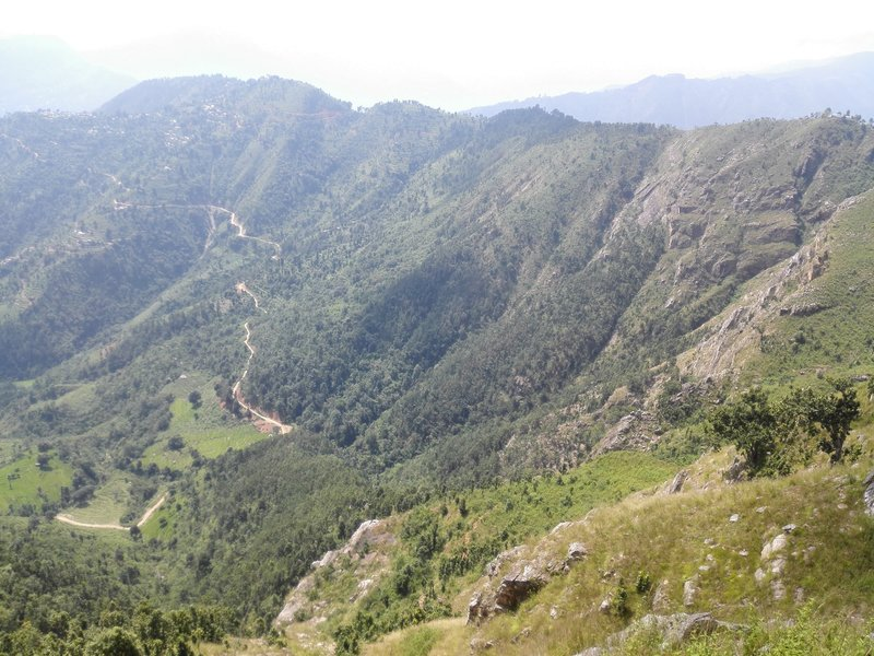 Looking from the Siddhalek top, the ultimate destination of the Camino Hiking in Nepal.