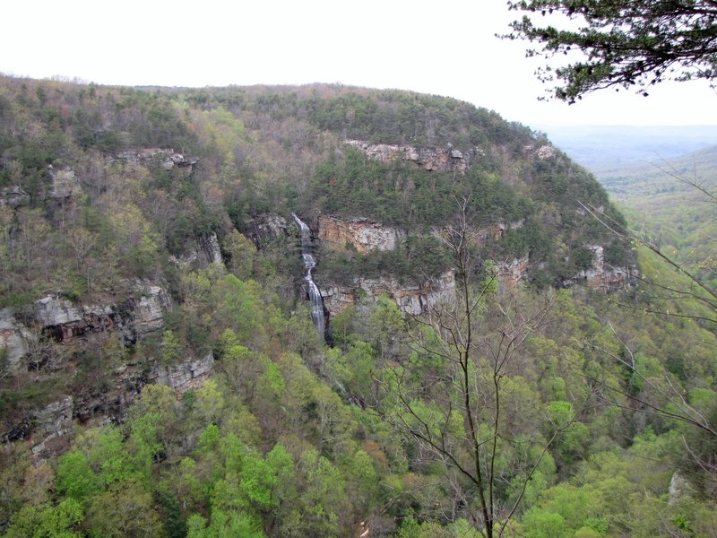 Cloudland canyon - far view of small falls.