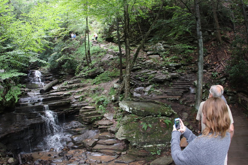 Taking snapshot of Rainbow Falls