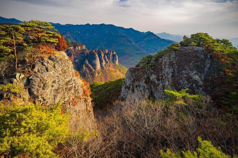 View from the Janggunbong ridgeline