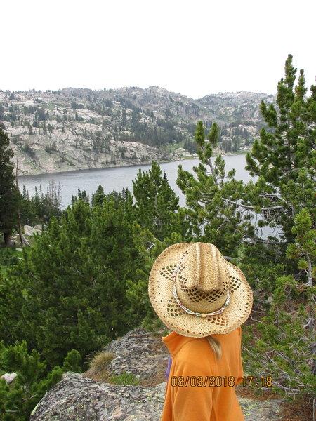 Overlooking Becker Lake
