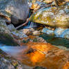 The water in the mountain streams is very clear, still should be filtered before drinking.