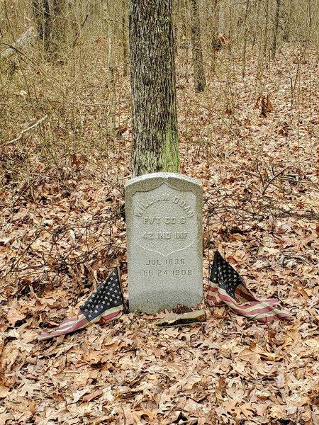 Headstone for private William Doan 1836-1908