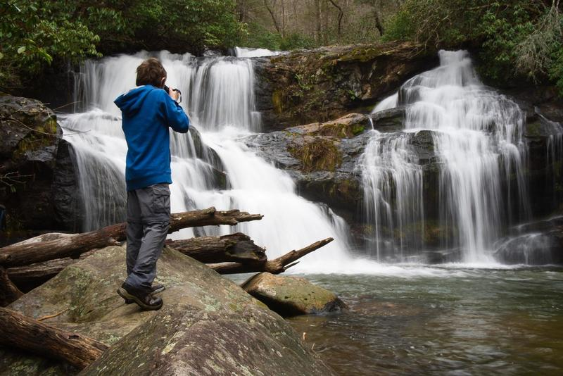 Photographing Upper Moccasin Creek Falls
