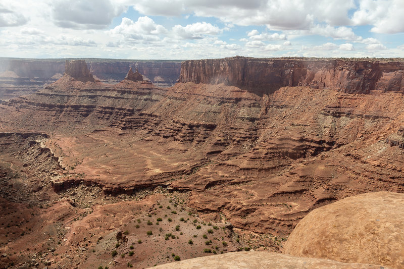 The northern part of Shafer Canyon from Big Horn Overlook