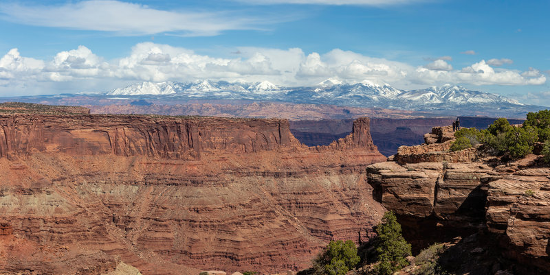 La Sal Mountains from the Dead Horse Point Visitor Center