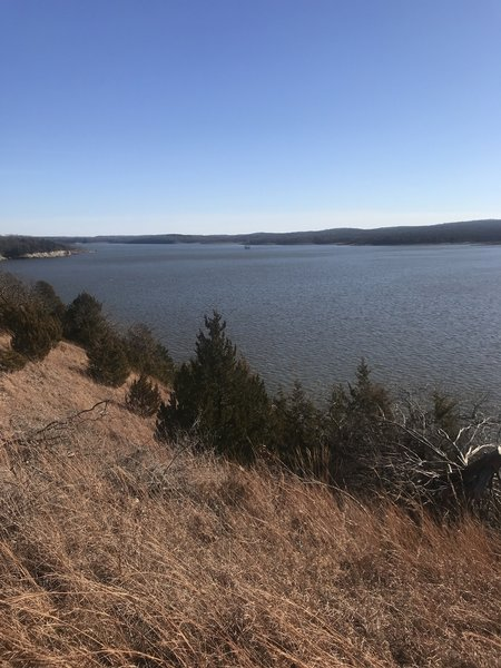 Lake view from orange trail
