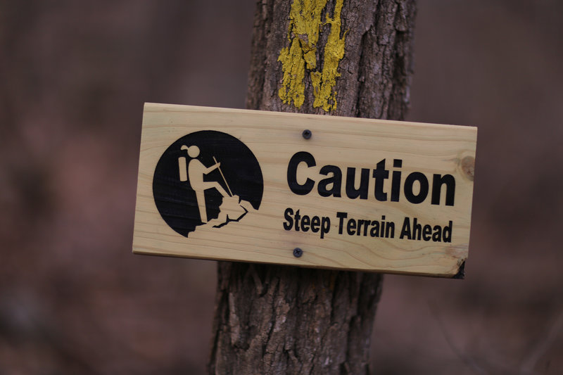 steep terrain ahead