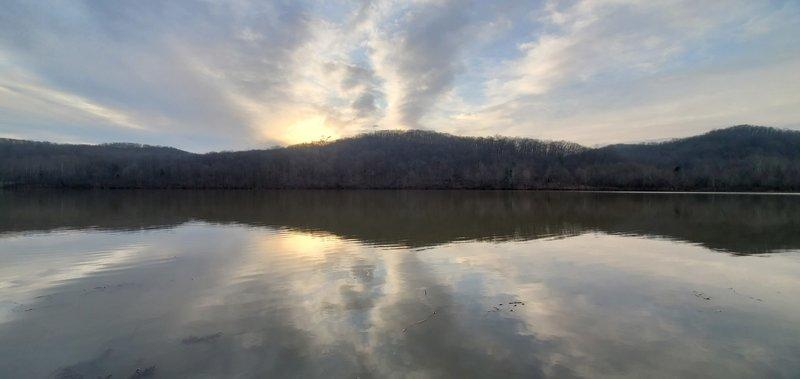 Sunrise over Indian Lake