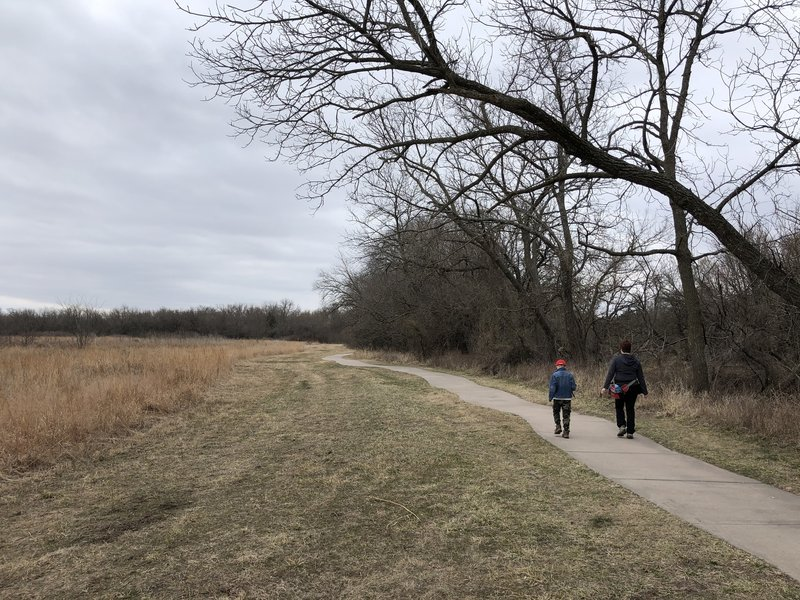 This part of the path reveals the East side prairie.