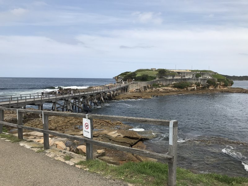 View of Bare Island.