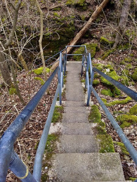 Stairs down to the river.