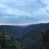 Sun gone across black canyon