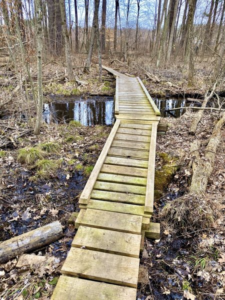 One of several small bridges.