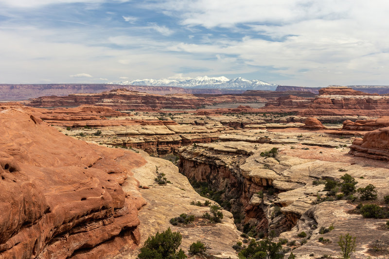 A deeply incised canyon from the Peekaboo Trail
