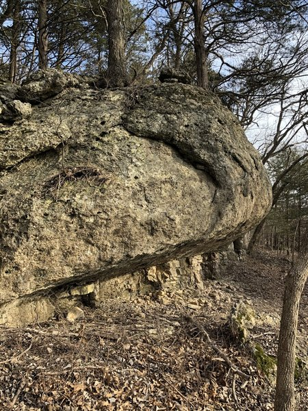very cool rock overhang big enough to sit underneath!