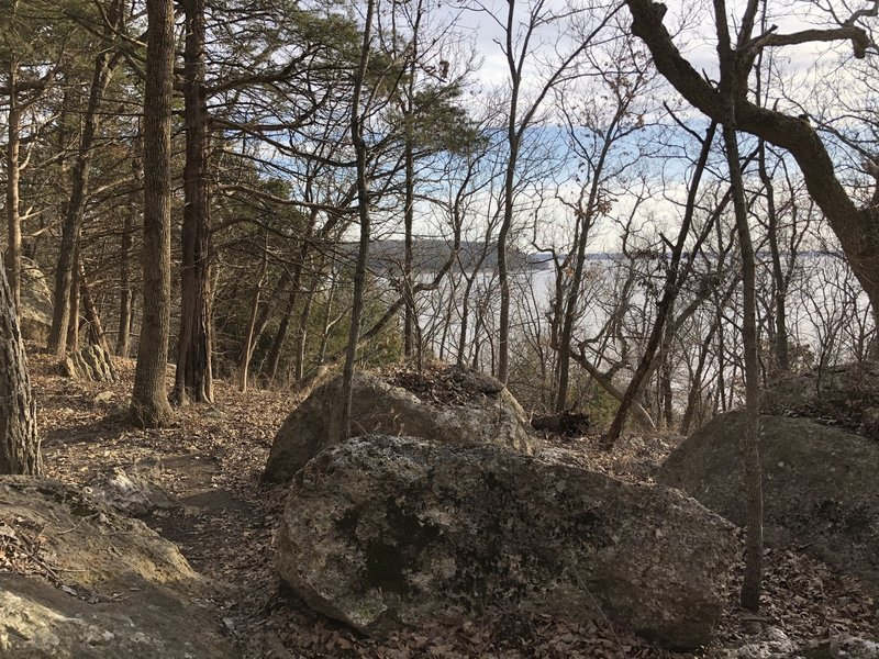 most of the lake views are inhibited by trees. There's better lake views on the Table Mound trail at the end of this trail.