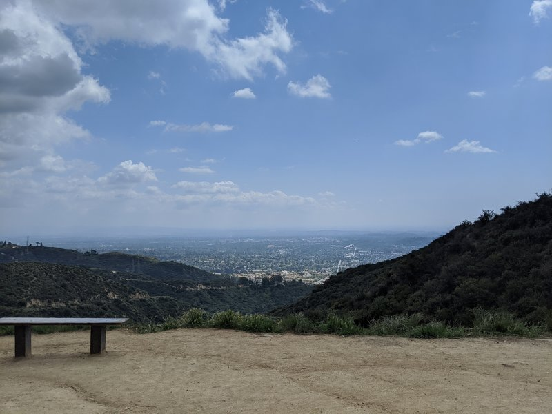 View at at the Junction of Fern Truck and Brown Mountain Trail. There are two benches to appreciate the view.