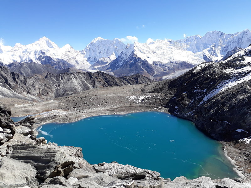 Stunning view of Gokyo Lakes, Everest Region