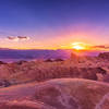 Sunset at Zabriskie Point - Death Valley National Park