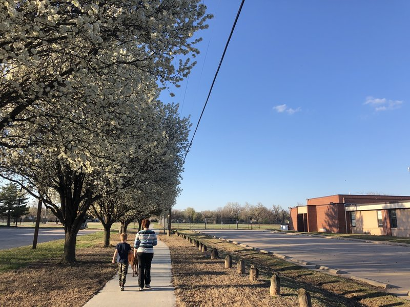 Path between the Rec center and Bryant Elementary school